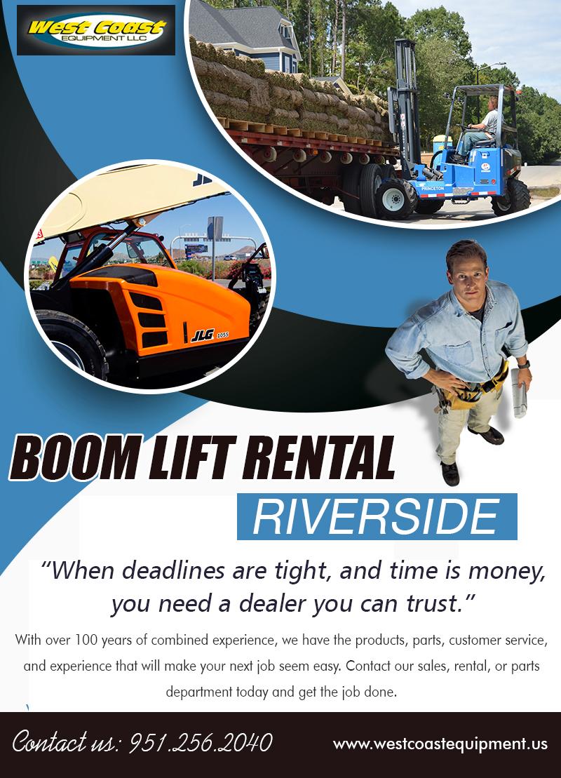Boom Lift Rental Riverside   9512562040   westcoastequipment.us