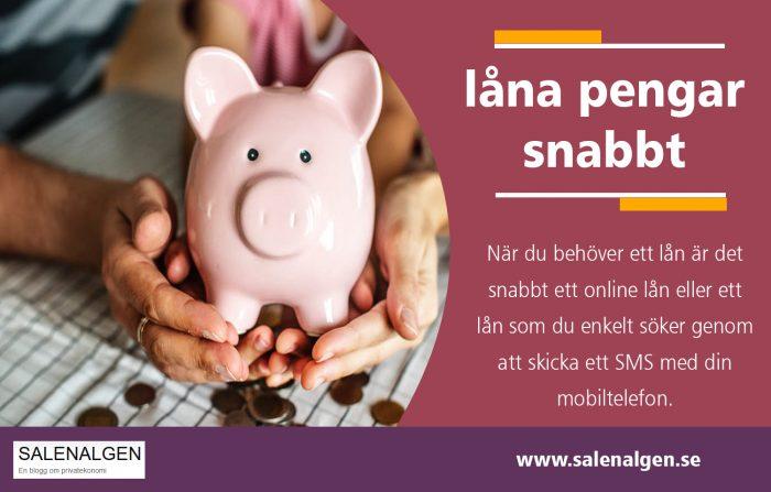 låna pengar snabbt utan säkerhet