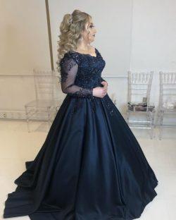 Günstige Abendkleider Lang Mit Ärmel | Ballkleider Sale Online