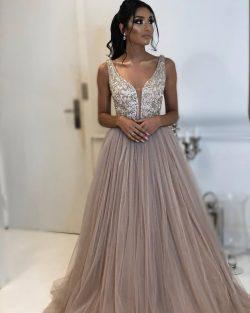 Fashion Abendkleider Lang Günstig | Abiballkleid Spitze Online