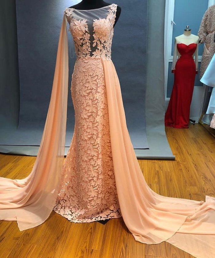 Elegante Abendkleider Lang Günstig   Spitze Abendkleid ...