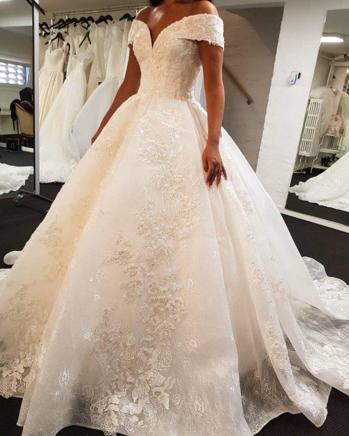 Elegante Brautkleider Weiße | Spitzen Brautkleid A Linie Günstig