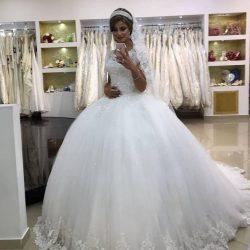 Modern Brautkleider Mit Spitze | Prinzessin Hochzeitskleider Online