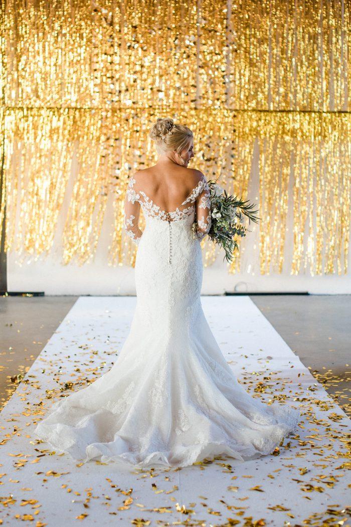 Fashion Hochzeitskleider Große Größen | Brautkleid mit Spitzenärmeln