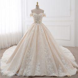 Elegante Brautkleider A Linie Online | Spitze Hochzeitskleid Kaufen