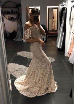 Schlichtes Abendkleid Günstig | Spitze Abendkleider Lang Online
