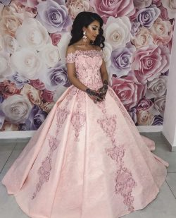 Rosa Abendkleider Lang | Spitze Abendkleid Prinzessin Online
