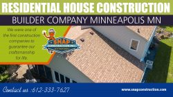 Residential House Construction Builder Company Minneapolis MN