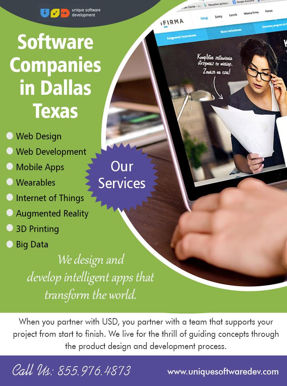 Software Companies In Dallas Texas | Call – 855-976-4873 | uniquesoftwaredev.com