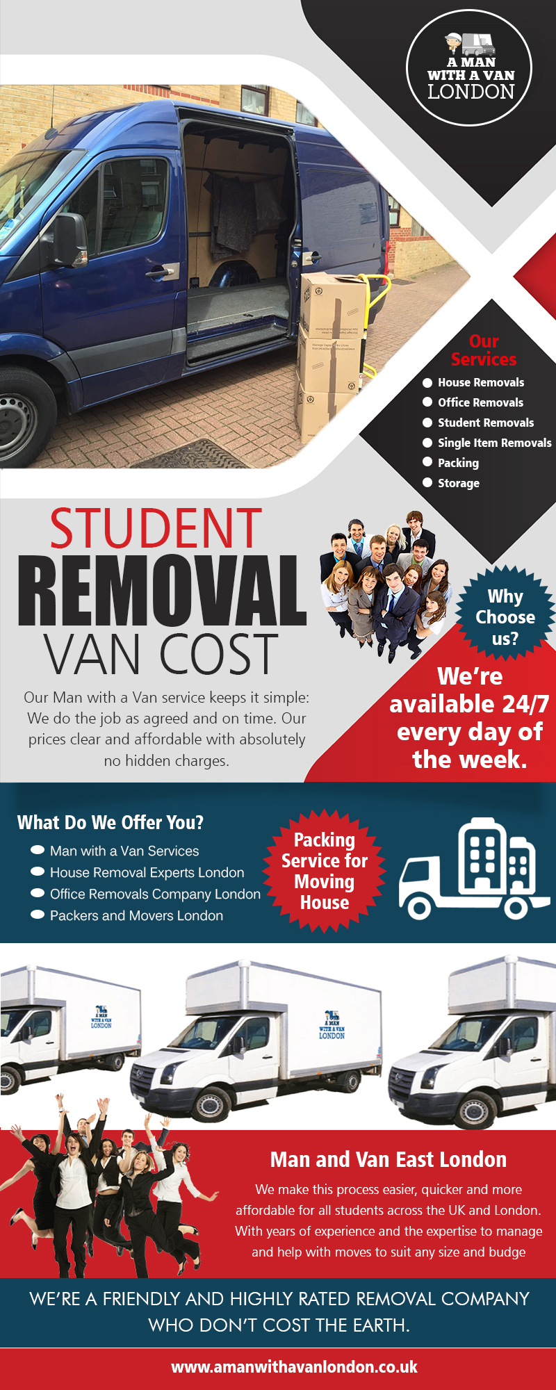 Student removal van cost