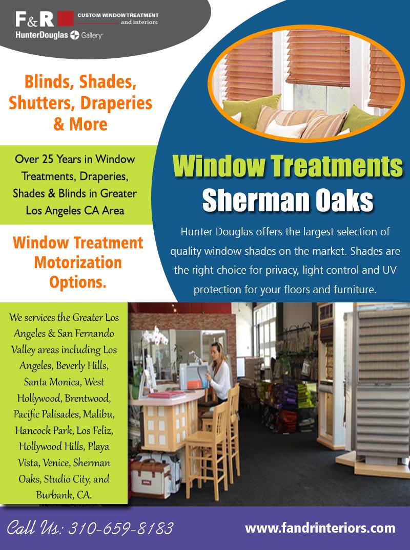 Window Treatments Sherman Oaks | 3106598183 | fandrinteriors.com
