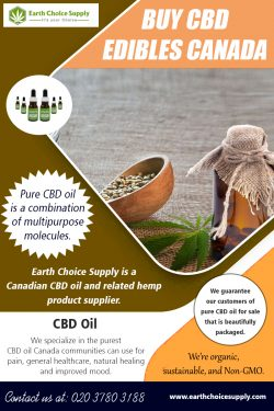 Buy CBD Edibles Canada | Call – 416-922-7238 | earthchoicesupply.com
