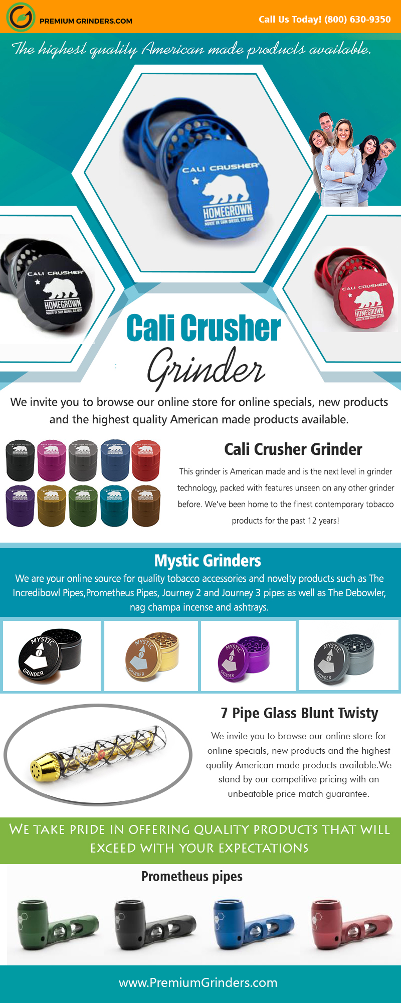 Cali Crusher Grinder   18006309350   premiumgrinders.com