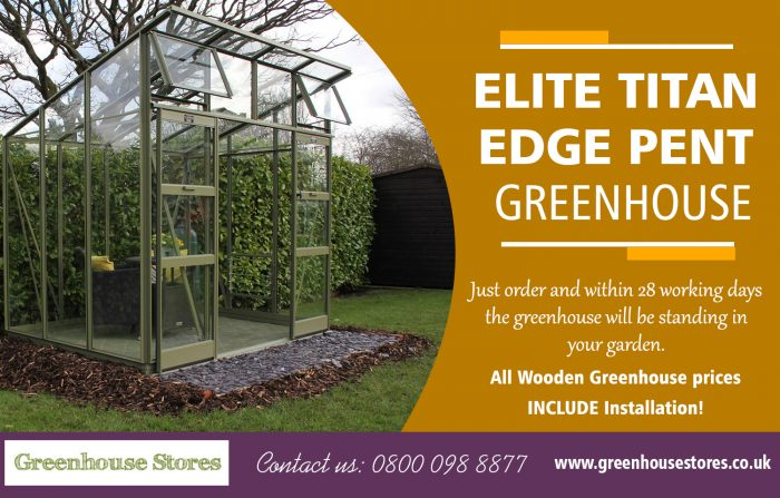 Elite Titan Edge Pent Greenhouse