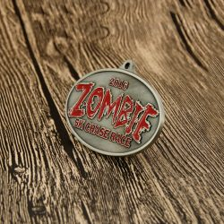 Zombie Run Medals | ZOMBIE 5K Chase Race Custom Medals