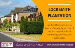 Locksmith Plantation | Call – 754-219-3632 | completelocksmithservice.com
