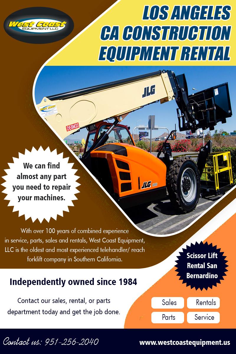 Los Angeles CA Construction Equipment Rental