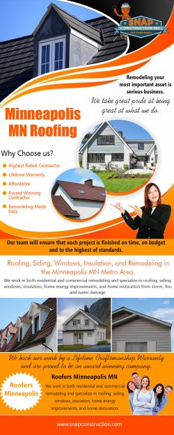 Minneapolis MN Roofing | Call us 6123337627 | snapconstruction.com