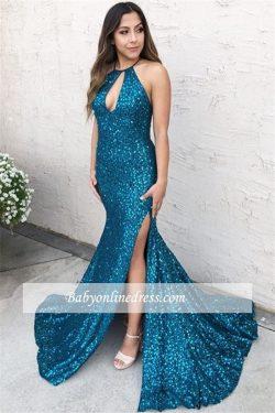 Elegante Abendkleider Lang mit Glitzer | Abiballkleider Online Kaufen
