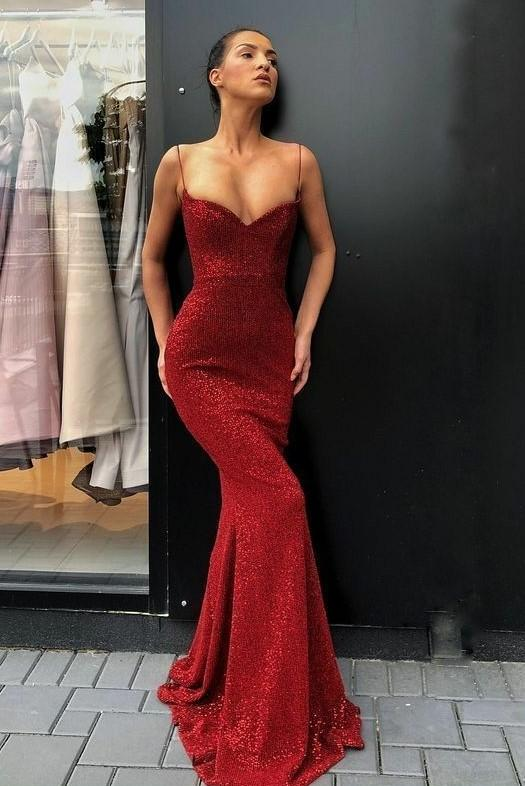 elegante rote abendkleider lang | abiballkleider mit