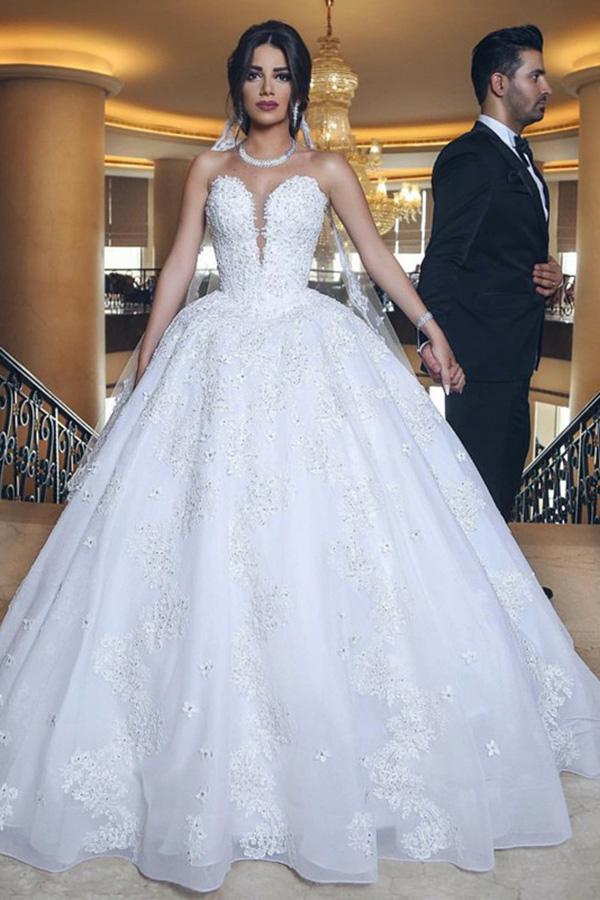 Designer Hochzeitskleider Weiß | Brautkleider Prinzessin Online