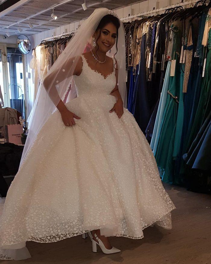 Ausgefallene Brautkleider Prinzessin   Spitze Hochzeitskleider Günstig Kaufen