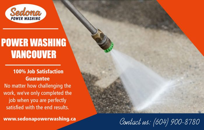 Power washing in vancouver
