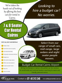 7 & 8 Seater Car Rental Cairns