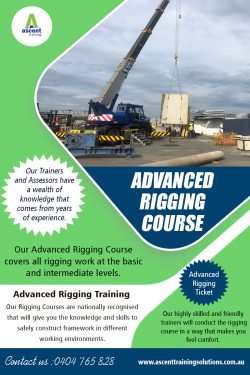 Advanced Rigging Course