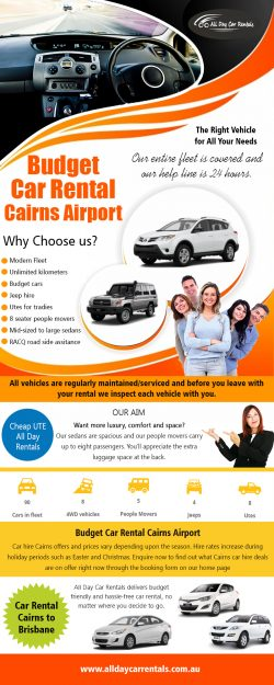 Budget Car Rental Cairns Airport | Call -740-313-348 | alldaycarrentals.com.au