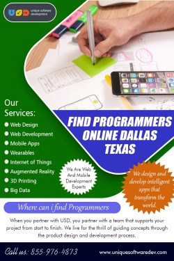 Find Programmers Online Dallas Texas | 8559764873 | uniquesoftwaredev.com