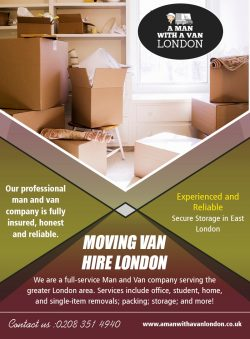 Moving Van Hire London
