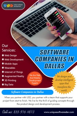 Software Companies in Dallas | 8559764873 | uniquesoftwaredev.com