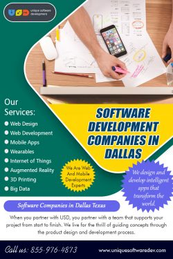 Software Development Companies in Dallas | 8559764873 | uniquesoftwaredev.com