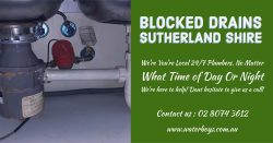 Blocked Drains Sutherland Shire