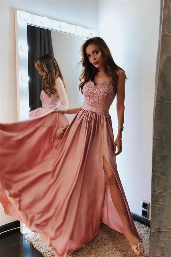 Fashion Abendkleider Lang Günstig | Abiballkleider Mit Spitze