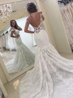 Elegante Brautkleider Spitze | Meerjungfrau Hochzeitskleider Günstig Online