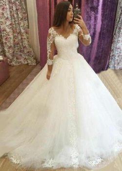 Elegante Brautkleider Mit Ärmel | Hochzeitskleider Spitze Günstig Online
