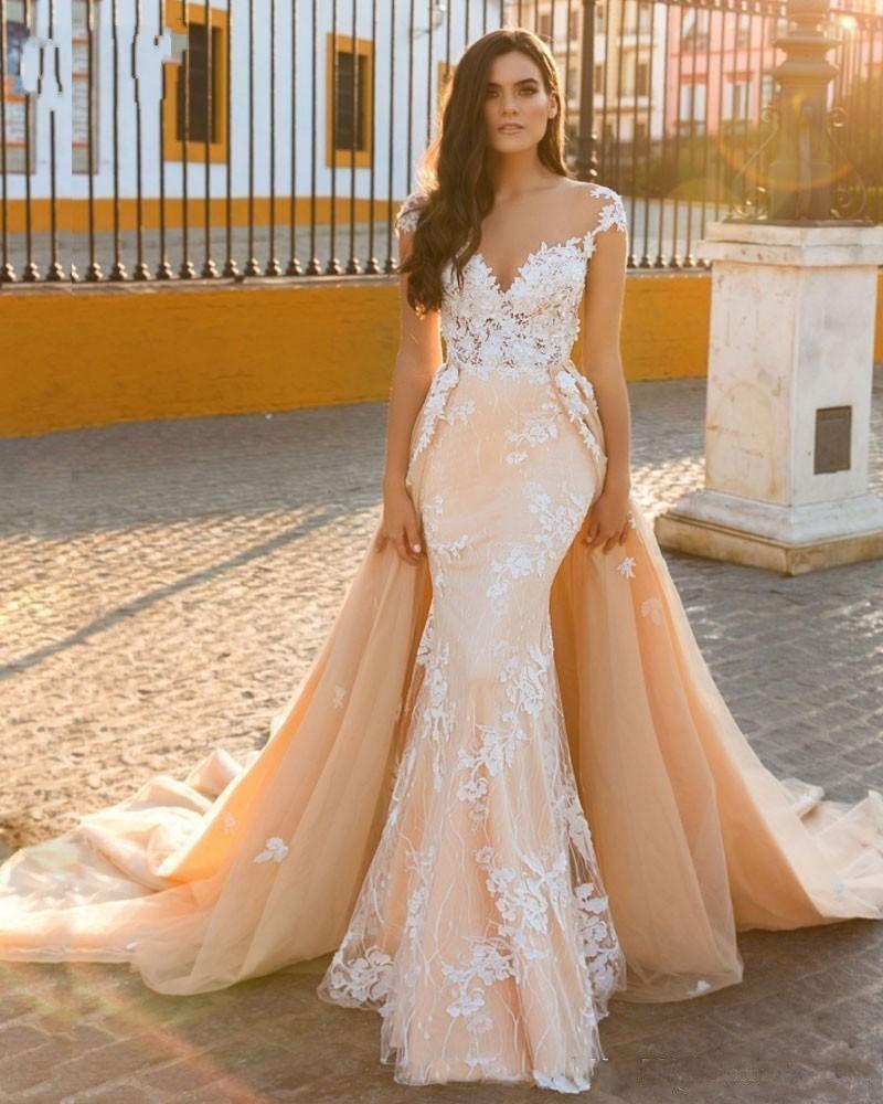 Designer Brautkleider A Linie   Hochzeitskleider Mit Spitze Online