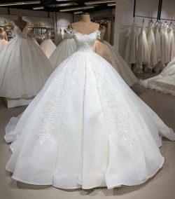 Designer Brautkleider Organza | A Linie Hochzeitskleider Mit Spitze