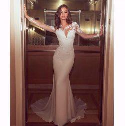 Moderne Brautkleider Mit Ärmel | Brautkleid Meerjungfrau Online