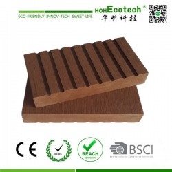 Brown Color Solid Wpc Composite Decking