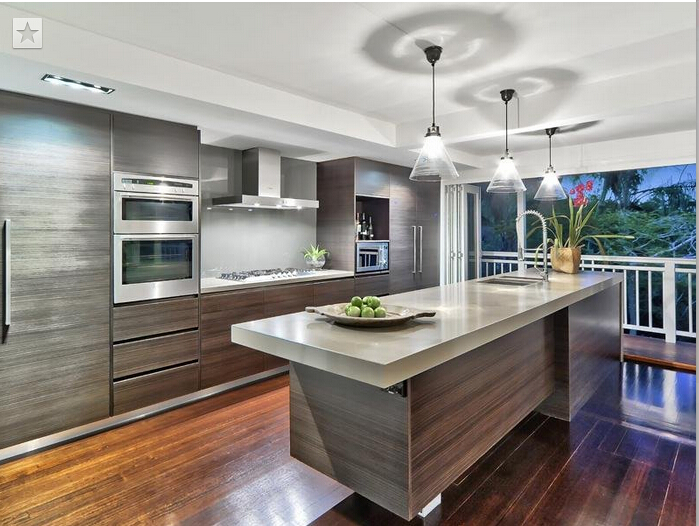 Hot sale wood veneer kitchen cabinet manufacturers for Chinese kitchen cabinets wholesale