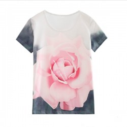 TS01 flowers Sublimation T shirt