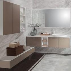2014 New Style Acrylic Dark Gold Large Modern Bathroom Cabinet