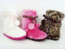 Ladies plush indoor boot