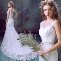 Mermaid Trumpet Diamond Lace Sweetheart Bride Wedding Dress 2016 New – Wedding Dresses