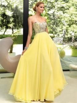 Princess-Linie Herzausschnitt Bodenlang Chiffon Ärmellos Kleid Mit Perlen verziert – Vicky ...