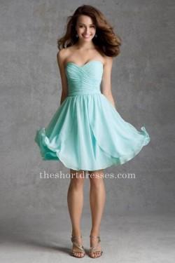Aqua Short Strapless Bridesmaid Dresses [Short Bridesmaid Dresses] – $119.00 : Short dress ...