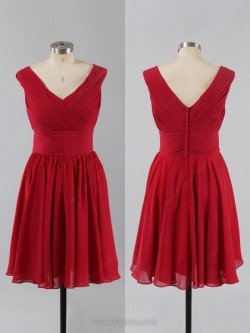Buy Red Bridesmaid Dresses Canada at Pickeddresses
